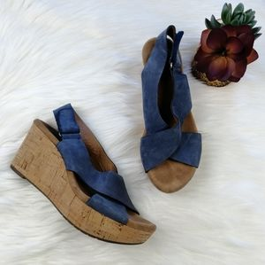 Clarks Leather Wedge Sandals Size 6.5